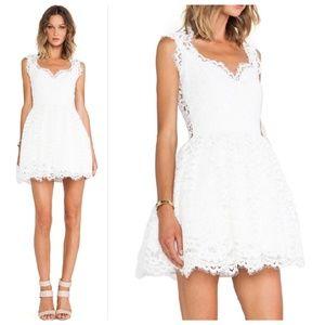 Alexis Antilles Scalloped Detail Lace Dress
